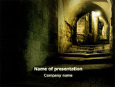 Construction: Dark Alley PowerPoint Template #06707