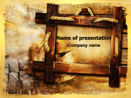 Careers/Industry: Wooden Frame PowerPoint Template #06708
