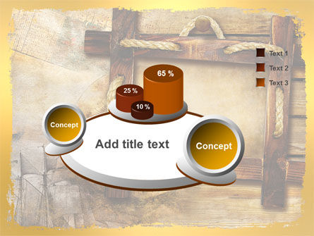 Wooden Frame PowerPoint Template Slide 6
