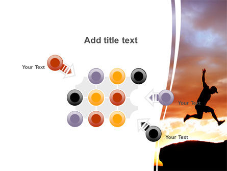 Jumper On Sunset PowerPoint Template Slide 10