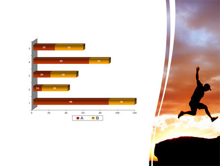 Jumper On Sunset PowerPoint Template Slide 11