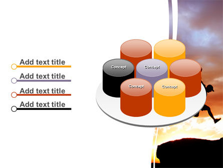 Jumper On Sunset PowerPoint Template Slide 12