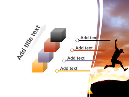 Jumper On Sunset PowerPoint Template Slide 14