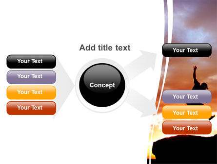 Jumper On Sunset PowerPoint Template Slide 15