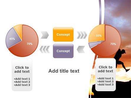 Jumper On Sunset PowerPoint Template Slide 16