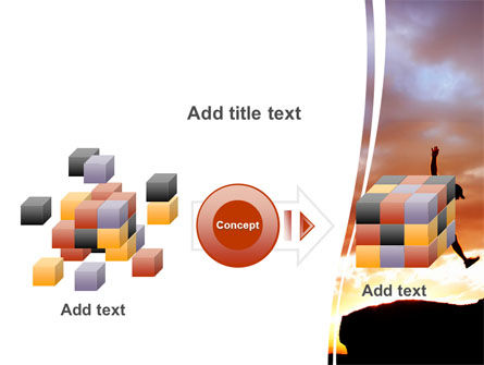 Jumper On Sunset PowerPoint Template Slide 17