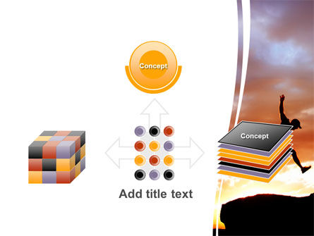 Jumper On Sunset PowerPoint Template Slide 19