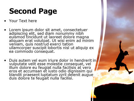 Jumper On Sunset PowerPoint Template Slide 2
