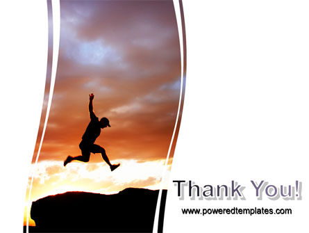 Jumper On Sunset PowerPoint Template Slide 20