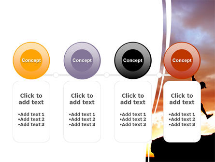 Jumper On Sunset PowerPoint Template Slide 5