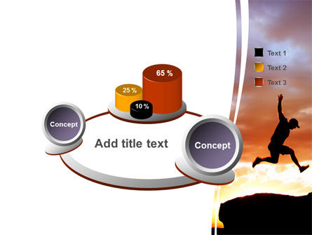 Jumper On Sunset PowerPoint Template Slide 6