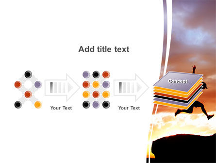 Jumper On Sunset PowerPoint Template Slide 9
