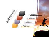 Jumper On Sunset PowerPoint Template#14