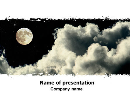 Nature & Environment: Full Moon PowerPoint Template #06713