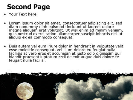Full Moon PowerPoint Template, Slide 2, 06713, Nature & Environment — PoweredTemplate.com