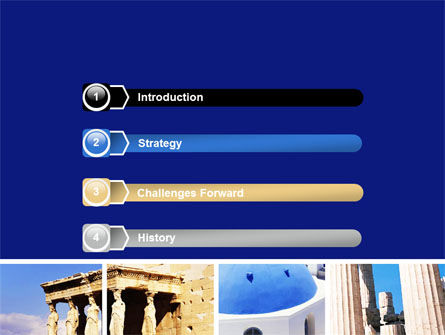 Greek Churches PowerPoint Template, Slide 3, 06714, Art & Entertainment — PoweredTemplate.com