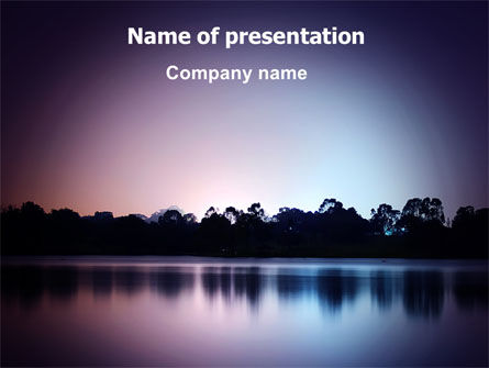 Nature & Environment: Purple Twilight Free PowerPoint Template #06715