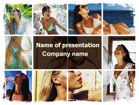 People: Tan Girls PowerPoint Template #06719