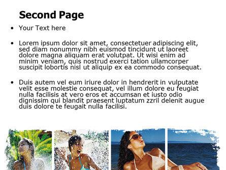 Tan Girls PowerPoint Template, Slide 2, 06719, People — PoweredTemplate.com