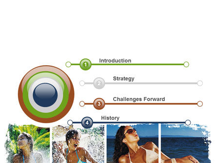 Tan Girls PowerPoint Template, Slide 3, 06719, People — PoweredTemplate.com
