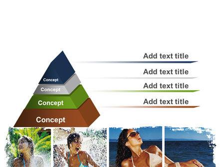 Tan Girls PowerPoint Template, Slide 4, 06719, People — PoweredTemplate.com