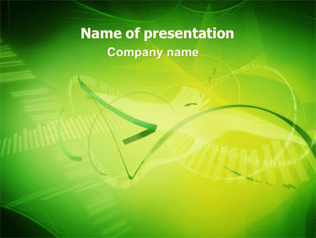 Technology and Science: Abstract Green Free PowerPoint Template #06720
