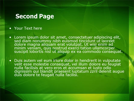 Abstract Green Free PowerPoint Template, Slide 2, 06720, Technology and Science — PoweredTemplate.com