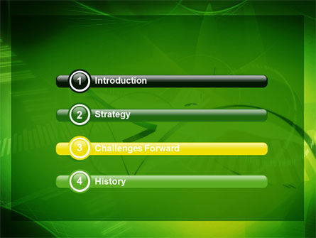 Abstract Green Free PowerPoint Template Slide 3