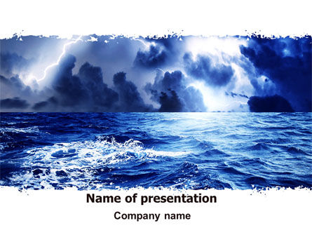 Royal Blue Sea PowerPoint Template, 06725, Nature & Environment — PoweredTemplate.com