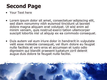 Royal Blue Sea PowerPoint Template, Slide 2, 06725, Nature & Environment — PoweredTemplate.com