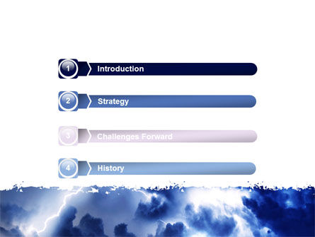 Royal Blue Sea PowerPoint Template, Slide 3, 06725, Nature & Environment — PoweredTemplate.com