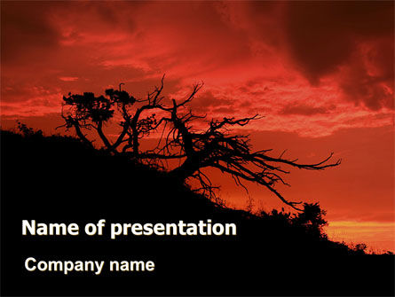 Nature & Environment: Crimson Sunset PowerPoint Template #06727