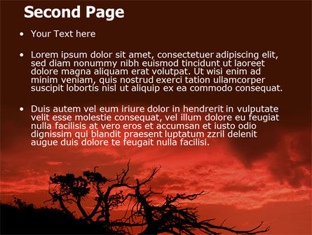 Crimson Sunset PowerPoint Template, Slide 2, 06727, Nature & Environment — PoweredTemplate.com