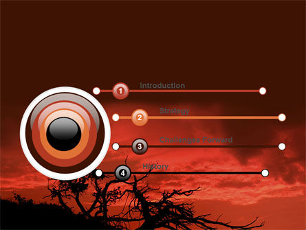 Crimson Sunset PowerPoint Template, Slide 3, 06727, Nature & Environment — PoweredTemplate.com