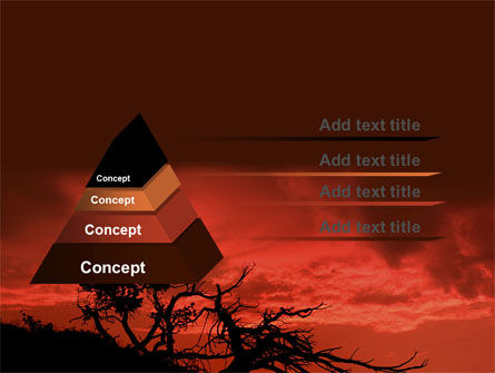 Crimson Sunset PowerPoint Template, Slide 4, 06727, Nature & Environment — PoweredTemplate.com