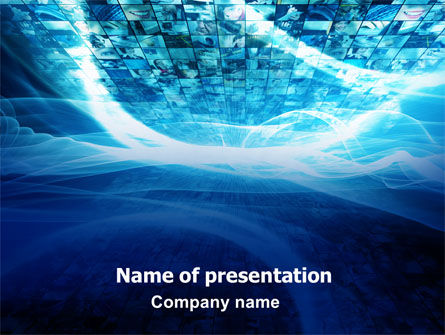 Telecommunication: Stock Photo Flow PowerPoint Template #06728