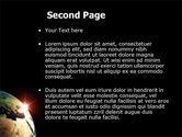 Sunrise in Space PowerPoint Template#2