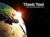 Sunrise in Space PowerPoint Template#20