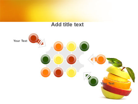 Cut Apple PowerPoint Template Slide 10