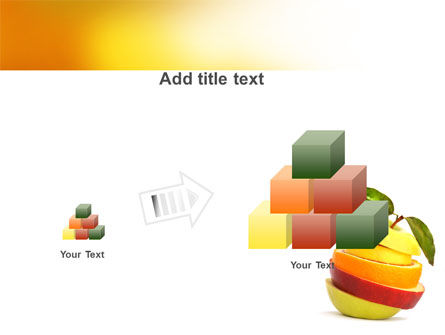Cut Apple PowerPoint Template Slide 13
