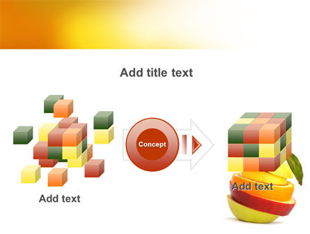 Cut Apple PowerPoint Template Slide 17
