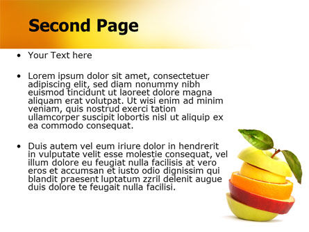 Cut Apple PowerPoint Template Slide 2