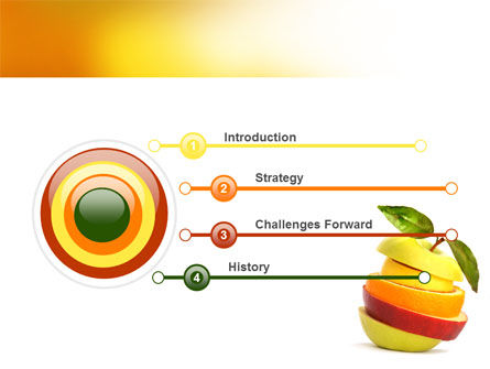 Cut Apple PowerPoint Template Slide 3