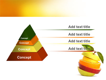 Cut Apple PowerPoint Template Slide 4