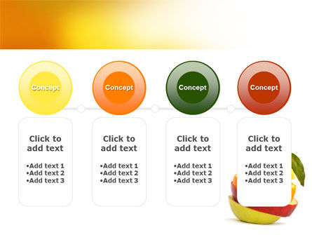 Cut Apple PowerPoint Template Slide 5
