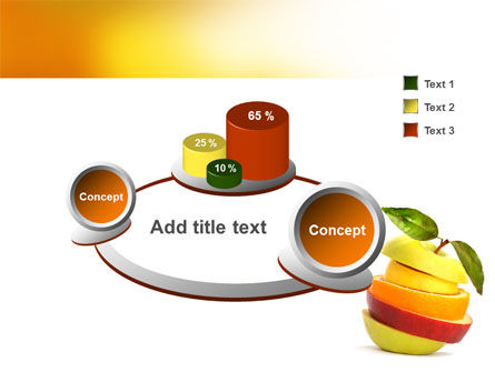 Cut Apple PowerPoint Template Slide 6