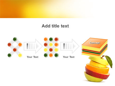 Cut Apple PowerPoint Template Slide 9