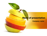 Food & Beverage: Cut Apple PowerPoint Template #06731