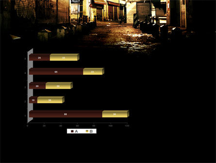 Night Street PowerPoint Template Slide 11
