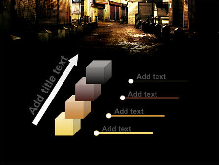 Night Street PowerPoint Template Slide 14